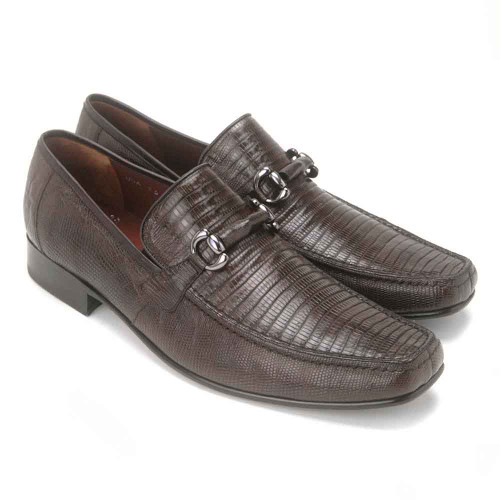 Brown Genuine Teju Lizard Skin Slip-on By Los Altos