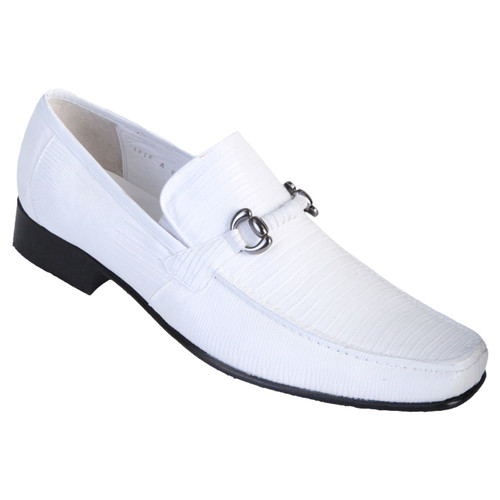 White Genuine Teju Lizard Skin Slip-on By Los Altos