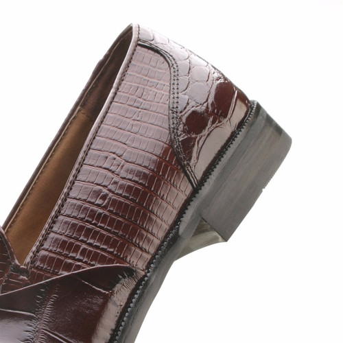Stacy Adams Alberto Cognac Genuine Snake & Crocodile Print Slip-On