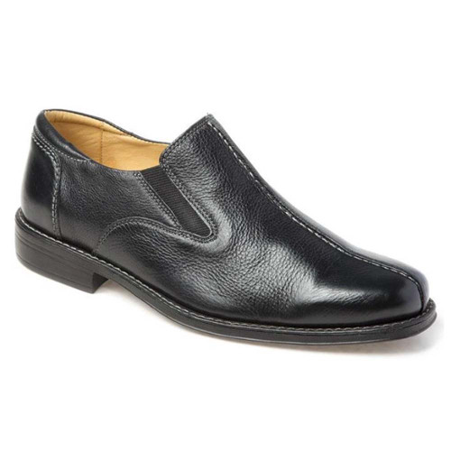 Sandro Moscoloni Tampa Black Leather Slip-ons