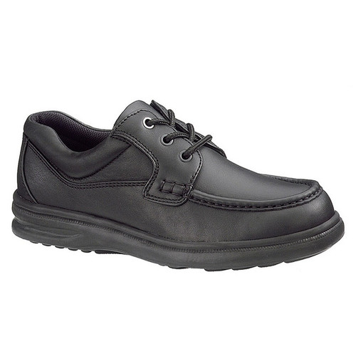 Hush Puppies Gus Black Leather Lace-Up