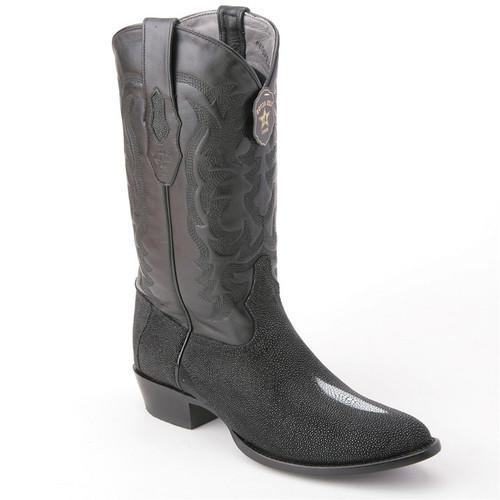 d2ae523f6ea Los Altos Exotic Black Boots Genuine Stingray Skin