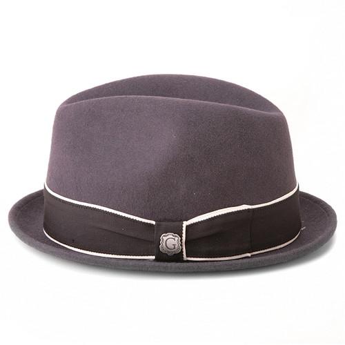 Bigalli Downtown Dark Grey Wool Felt Hat