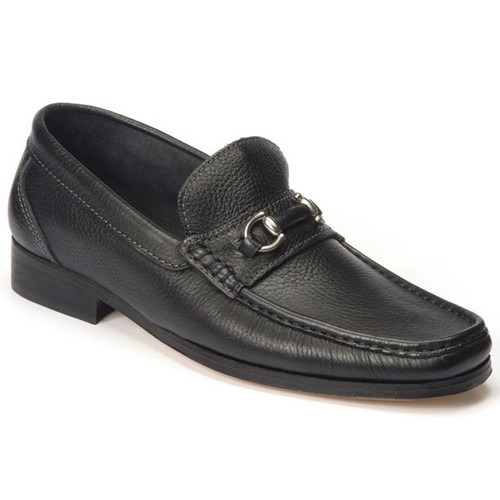Sandro Moscoloni Garda Black Genuine Leather Bit Loafers