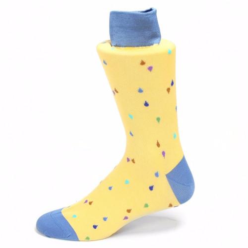 Tallia Yellow & Blue Printed Socks