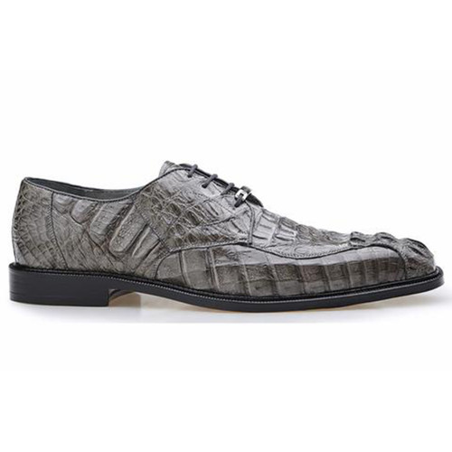 Belvedere Chapo Gray Genuine Caiman Men's Lace-up Shoes