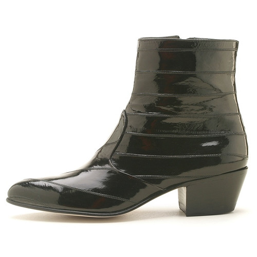 Los Altos Black Eel Dress Zipper Boot