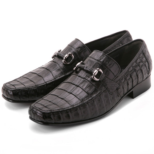 Los Altos Black Genuine Caiman