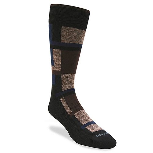 Remo Tulliani Sioux Brown, Navy, & Taupe Dress Socks