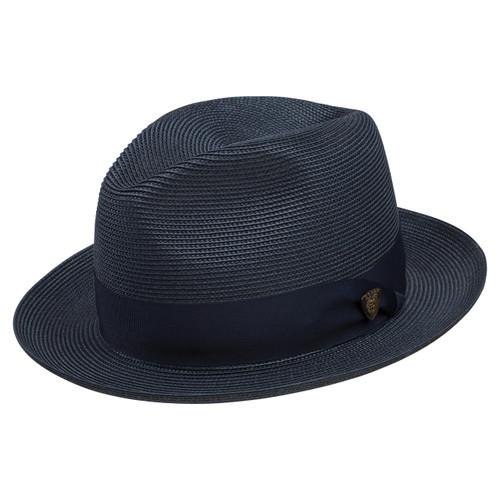 Dobbs Rosebud Navy Straw Hat