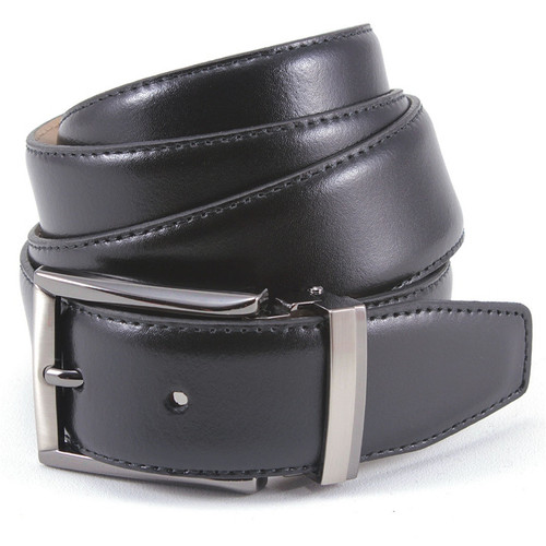 Avanti Black Smooth  Italian Leather Dress Belt