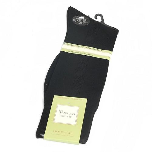 Vannucci Couture Black Imperial Cotton Dress Sock