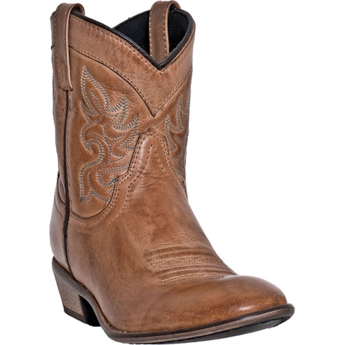 Dingo Willie Tan Leather Women Ankle Boots