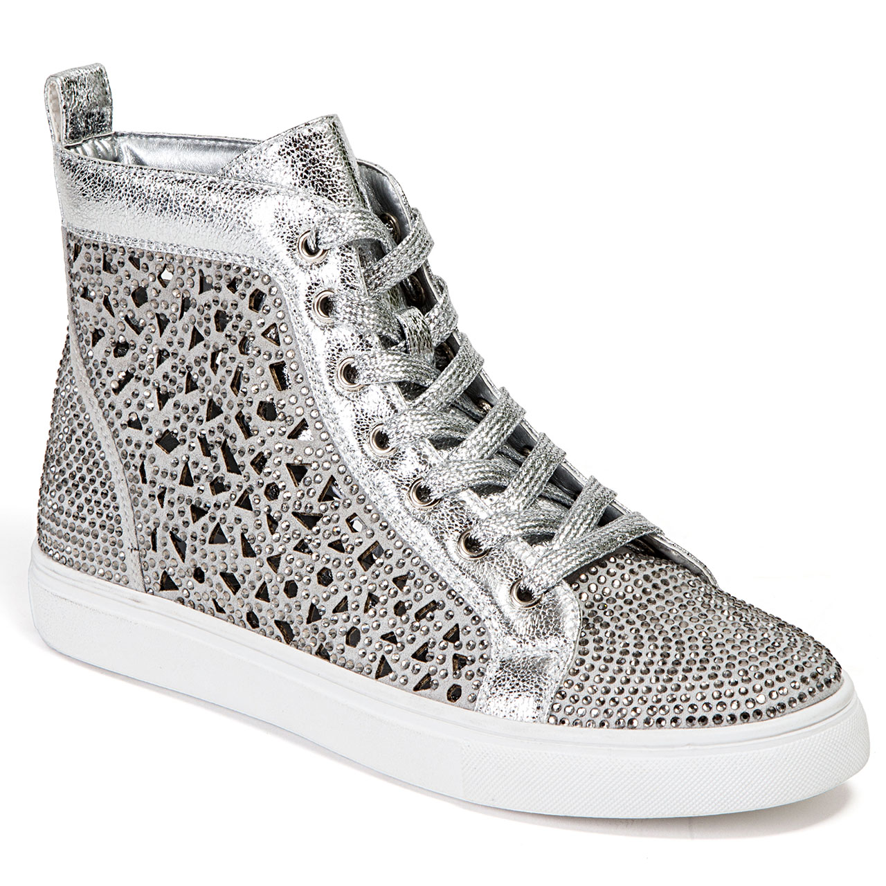 Lady Couture New York Silver High-top