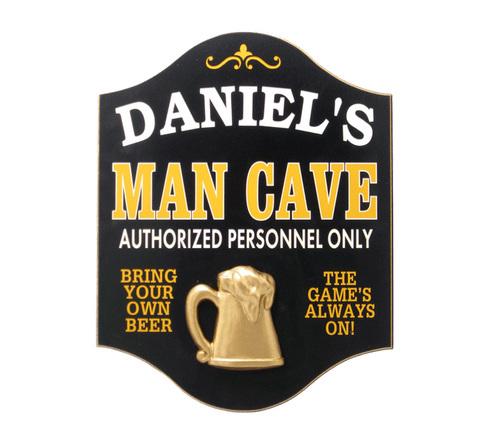 Personalized Man Cave Wooden Sign