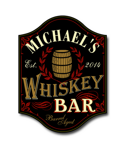 Personalized Whiskey Bar