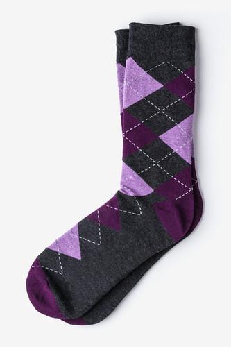 Purple Westminster Argyle Socks