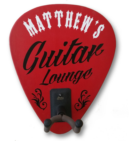 Personalized Guitar Lounge Guitar Rack