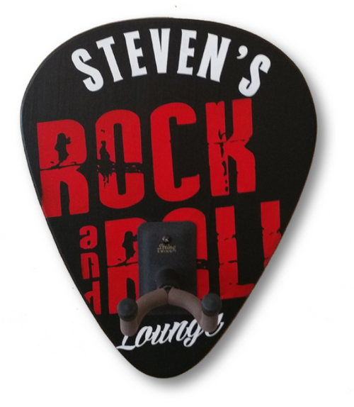 Personalized Rock and Roll Guitar Rack