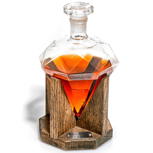 Diamond Shaped 1000ml Glass Decanter
