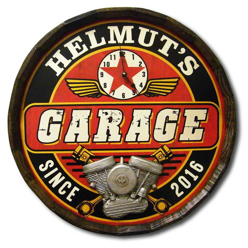 Garage Personalized Quarter Barrel Sign