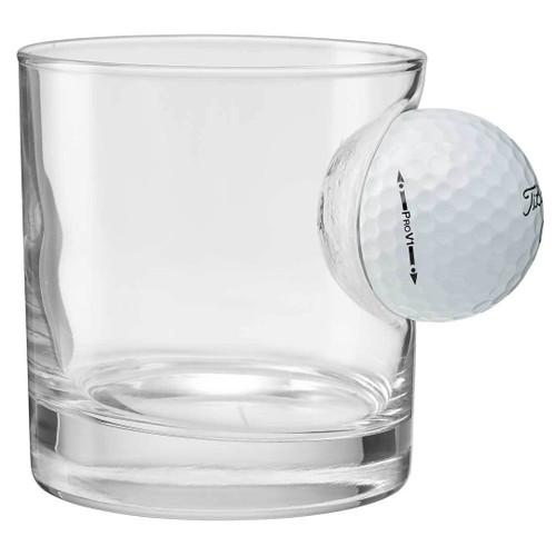 Personalized Golf Ball Rocks Glass