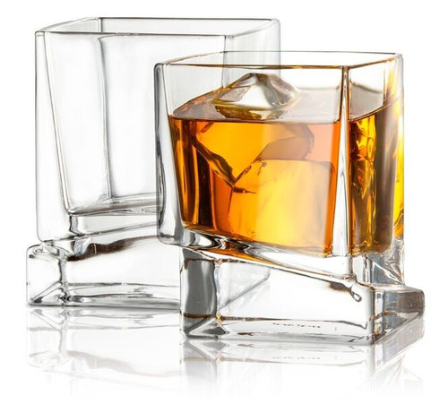 Carre 10 oz. Whiskey Glass (Set of 2)