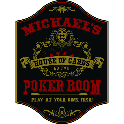 Personalized Poker Room Sign