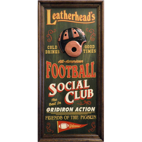 Personalized Football Social Club Vaudeville Sign