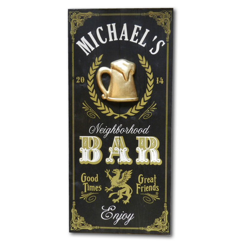 Personalized Vintage Neighborhood Bar Sign