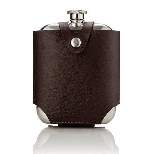 Admiral Stainless Steel Flask w/ Travel Case