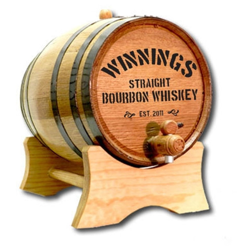 'Distillery' Personalized Oak Barrel