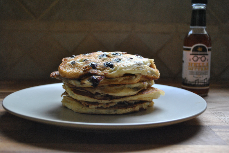 Blueberry Buttermilk Pancakes Recipe from Hella Cocktail Co.