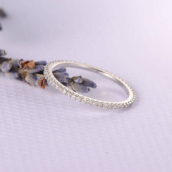 White Gold Full Eternity  Diamond Wedding Band Women Ring