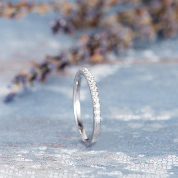 Half Eternity Diamond White Gold  Wedding Band