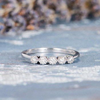 Pave Diamond Stacking Eternity Wedding Ring