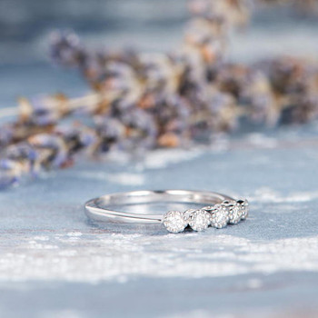 Pave Diamond Stacking Eternity Wedding Ring