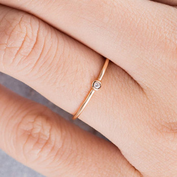 Diamond Wedding Band Women Stacking Ring