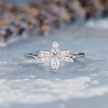 Marquise Unique Diamond Wedding Ring
