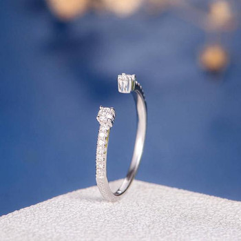 White Gold Open Eternity Band Wedding Band