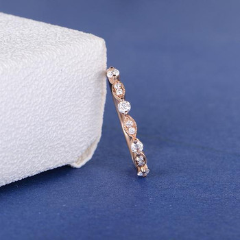 Marquise Moissanite Art Deco Wedding Band