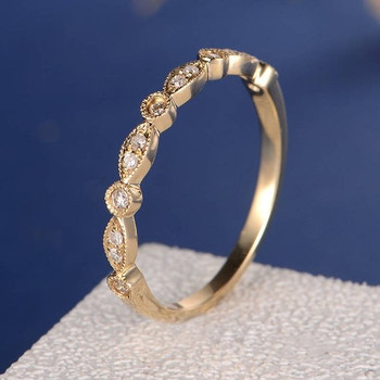 Yellow Gold Half Eternity Diamond Wedding Band
