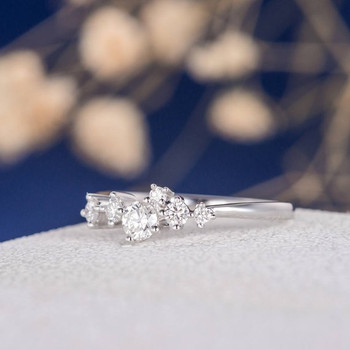 Stacking Snowflake Star Mini Anniversary Floral Dainty Promise Ring