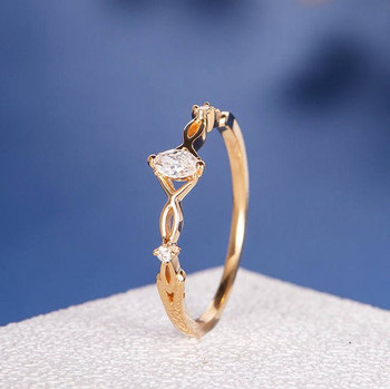 Antique Marquise Diamond Ring Solitaire Engagement Ring