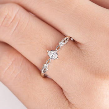 White Gold  Antique Marquise Diamond Ring Solitaire Engagement Ring