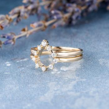Diamond Ring Enhancer Matching Band Stacking Bands