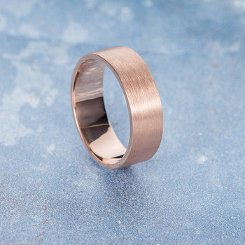 Mens Simple Minimalist Stacking Brushed Wedding Band