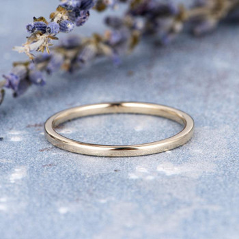 Minimalist Wedding Band Women Thin Band