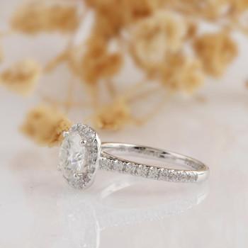 6.5mm Round Cut  Moissanite Ring Wedding Ring Engagement Ring