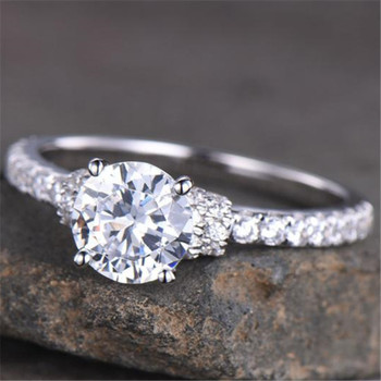 Round Cut Engagement Ring Wedding Ring Bridal Ring Anniversary Ring